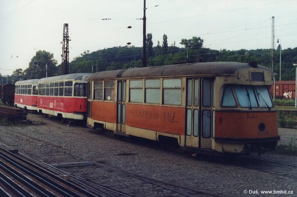 Fotogalerie » T2 služební 4104 | T2R 1470 | T2R 1462 | Brno | Královo Pole | Vlečka DP v Králově Poli