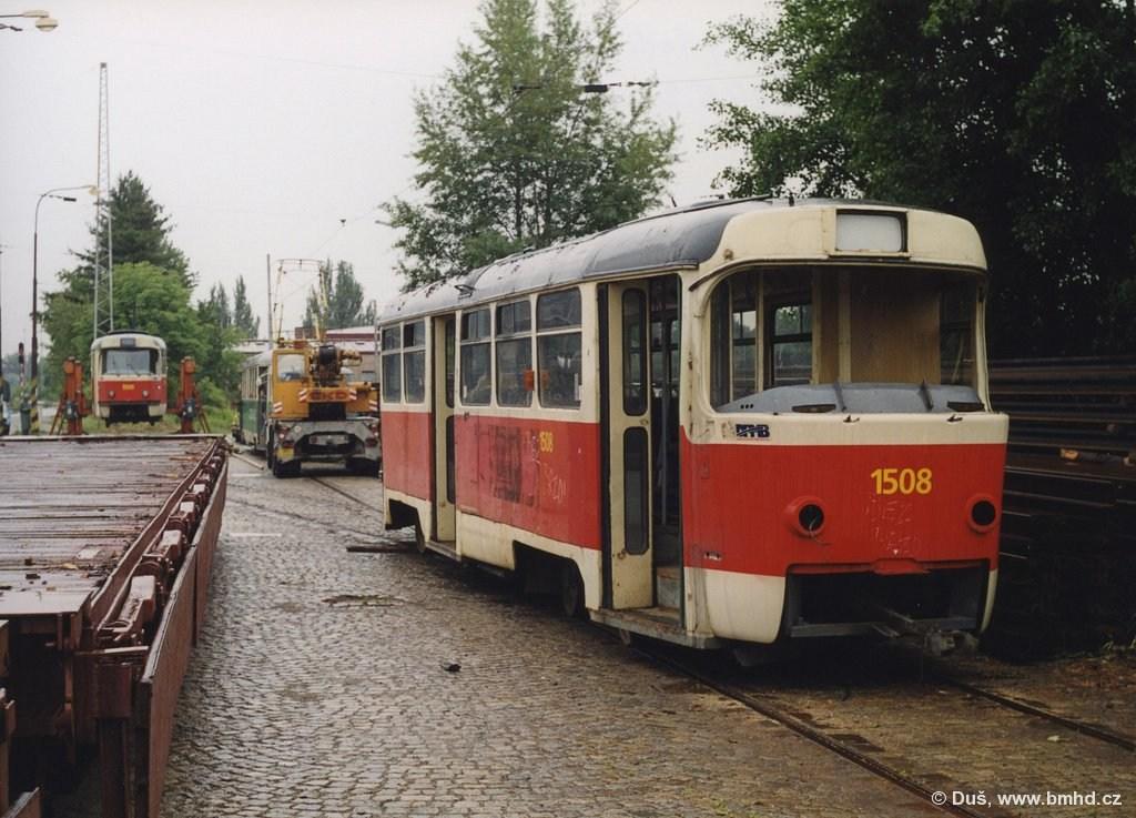 Fotogalerie » T3 1508 | Brno | Královo Pole | Vlečka DP v Králově Poli