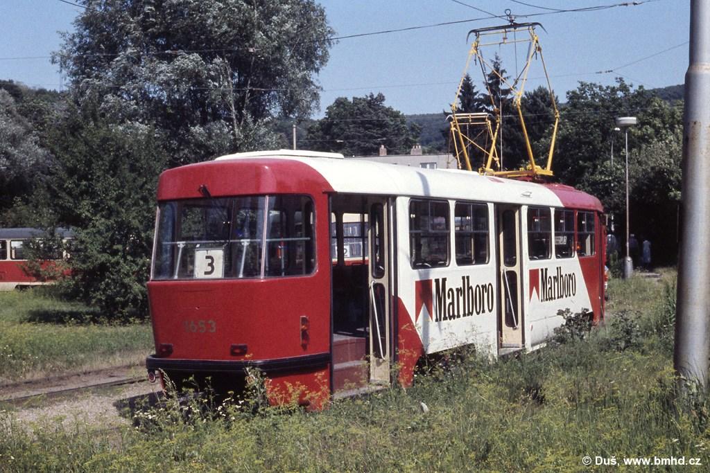 Fotogalerie » T3 1653   Brno   Maloměřice   Obřanská   Babická