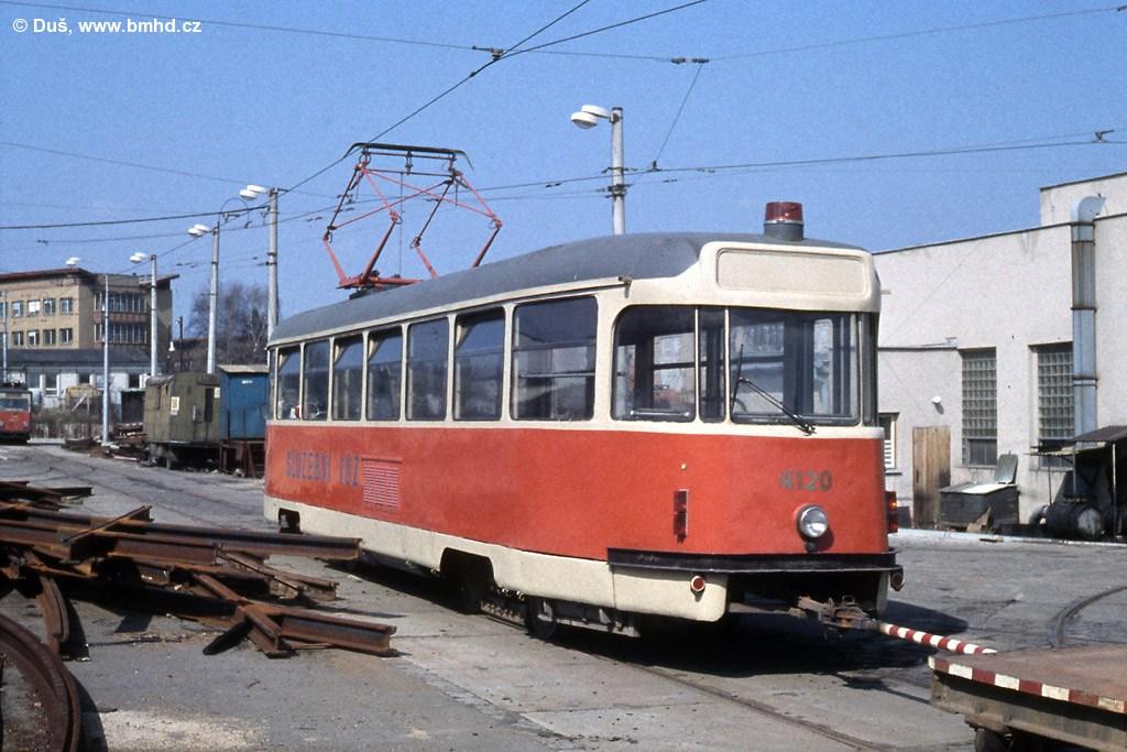 Fotogalerie » T2 služební 4120 | Brno | vozovna Medlánky