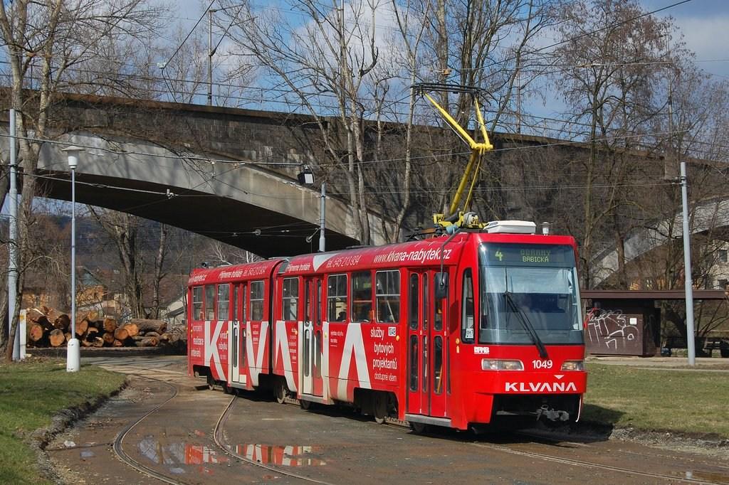 Fotogalerie » ČKD Tatra K2R03-P 1049 | Brno | Maloměřice | Obřanská | Babická