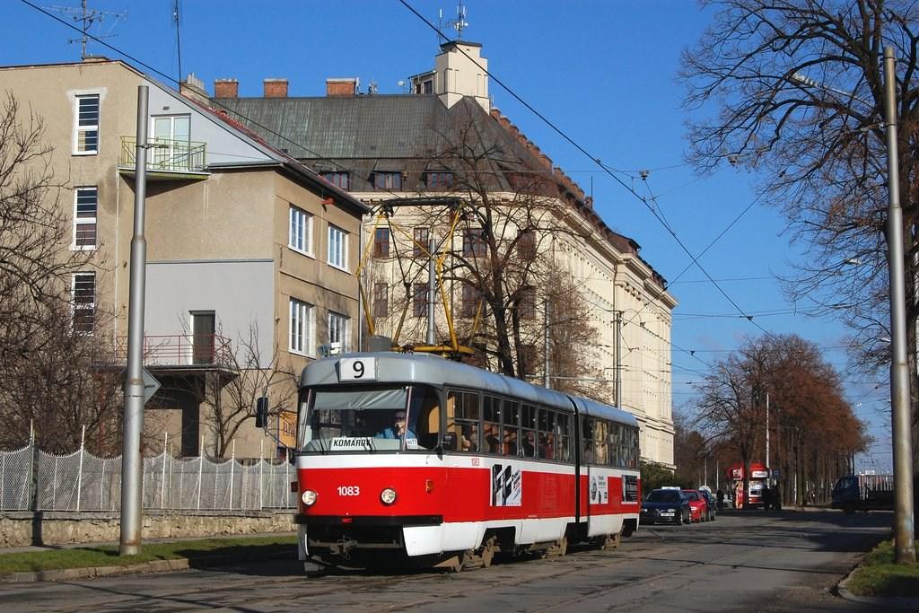 Fotogalerie » ČKD Tatra K2 1083 | Brno | Černá Pole | Lesnická