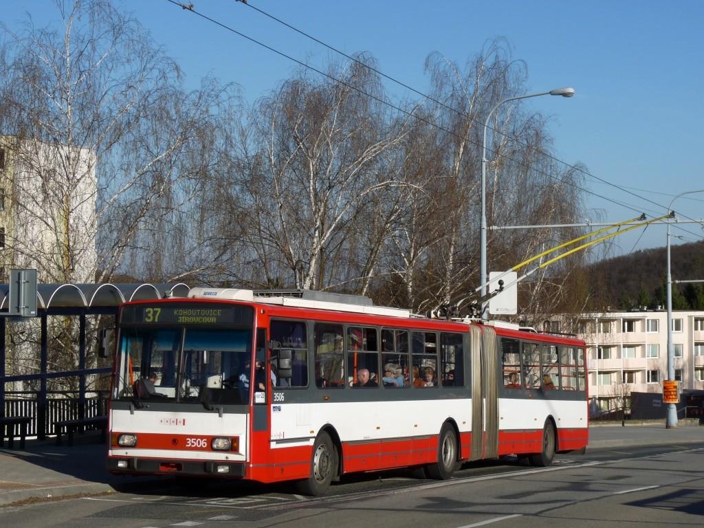 Fotogalerie » Škoda 15TrM 3506 | Brno | Kohoutovice | Libušina třída | Stamicova