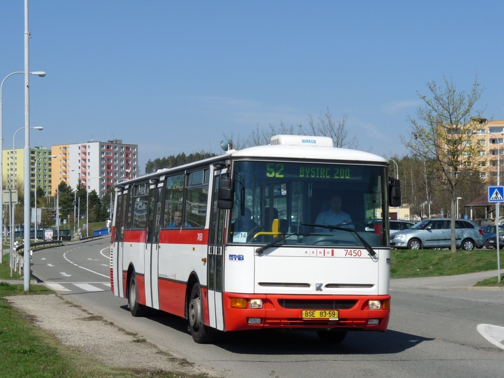 Fotogalerie » Karosa B931E.1707 BSE 83-59 7450 | Brno | Bystrc | Vejrostova