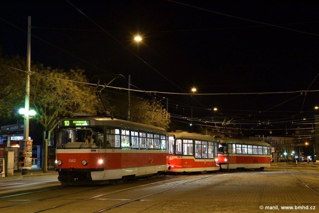 Fotogalerie » Pragoimex T3R.EV 1562 | Pragoimex VV60LF 1302 | Pragoimex T3R.EV 1569 | Brno | střed | Nádražní