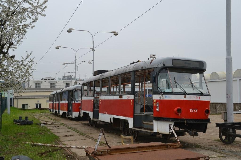 Fotogalerie » ČKD Tatra T3M 1573 | Brno | vozovna Medlánky