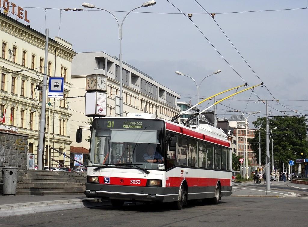 Fotogalerie » Škoda 21Tr 3053 | Brno | střed | Nádražní | Hlavní nádraží