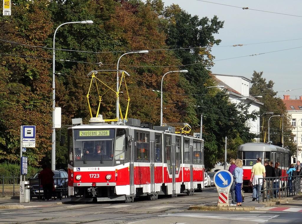 Fotogalerie » ČKD Tatra KT8D5R.N2 1723 | Brno | Štýřice | Vídeňská | Celní