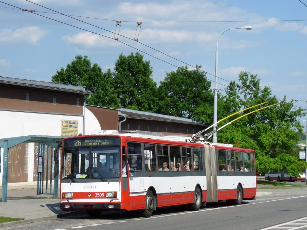Fotogalerie » Škoda 15TrM 3508 | Brno | Vinohrady | Věstonická | Čejkovická