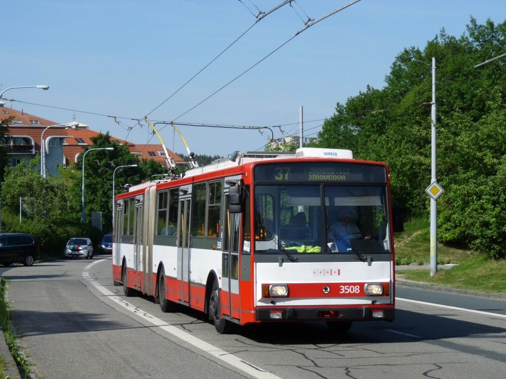 Fotogalerie » Škoda 15TrM 3508 | Brno | Kohoutovice | Libušina třída