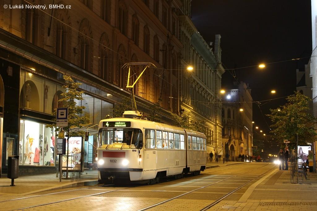 Fotogalerie » ČKD Tatra K2P 1032   Brno   střed   Rašínova   Náměstí Svobody