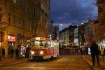 Vánoční tramvaj na náměstí Svobody