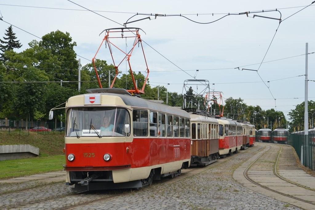 Fotogalerie » ČKD Tatra T3 1525 | Brno | Pisárky | Hlinky