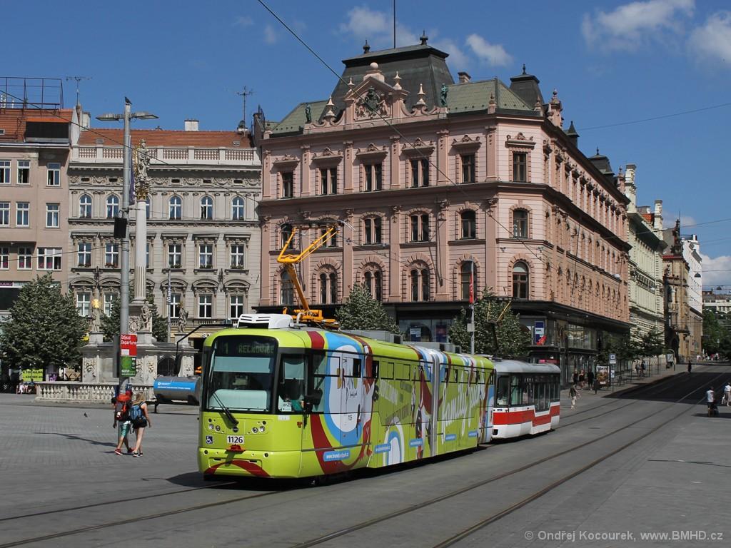 Fotogalerie » Pragoimex VarioLF2R.E 1126   Pragoimex VarioLFR.E 1523   Brno   střed   náměstí Svobody