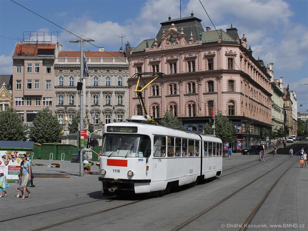 Fotogalerie » ČKD Tatra K2P 1118 | Brno | střed | náměstí Svobody