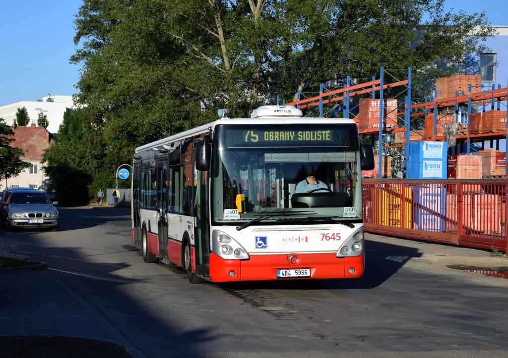 Fotogalerie » Irisbus Citelis 12M 4B4 5966 7645 | Brno | Slatina | Šmahova