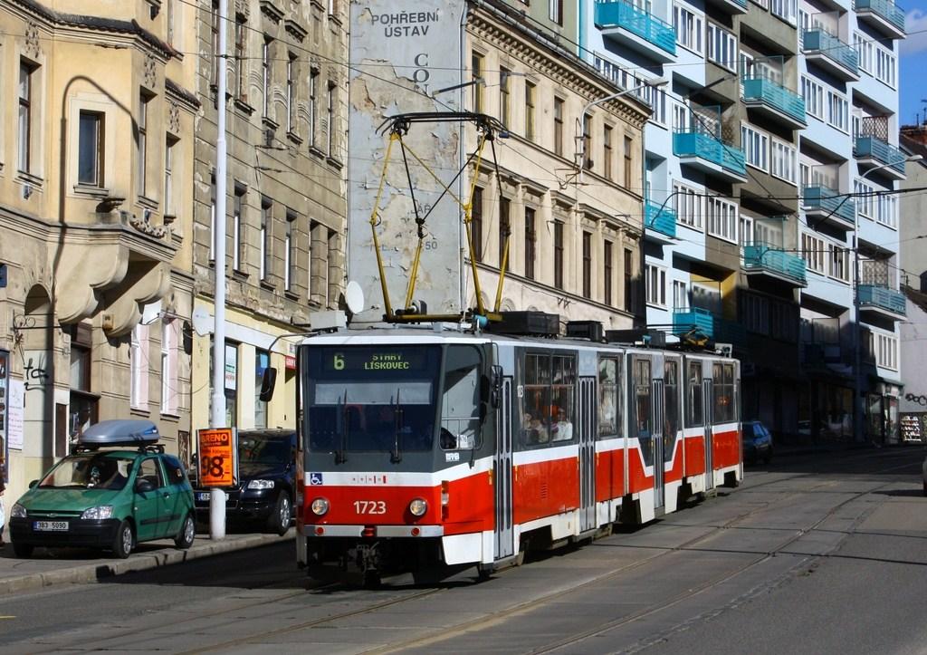 Fotogalerie » ČKD Tatra KT8D5R.N2 1723 | Brno | Staré Brno | Pekařská