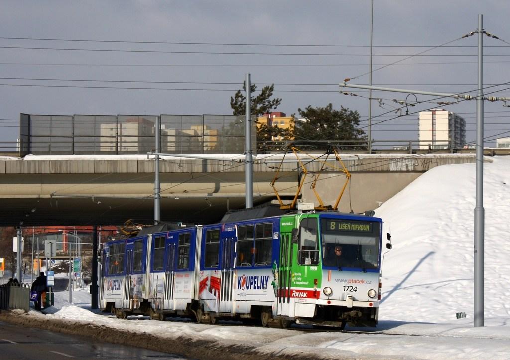 Fotogalerie » ČKD Tatra KT8D5SU 1724 | Brno | Starý Lískovec | Jemelkova