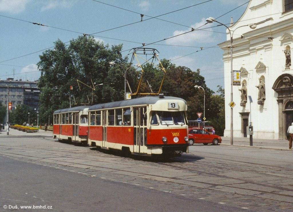 Fotogalerie » T2R 1451 | T2R 1487 | Brno | střed | Moravské náměstí