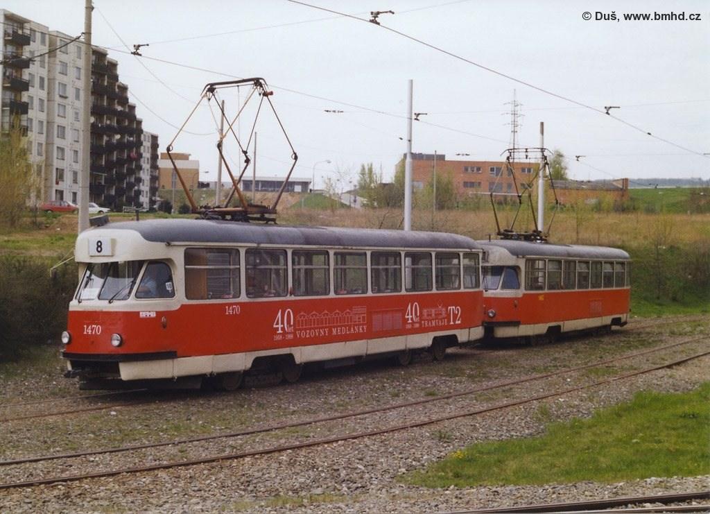 Fotogalerie » T2R 1470 | T2R 1462 | Brno | Líšeň | Novolíšeňská, smyčka