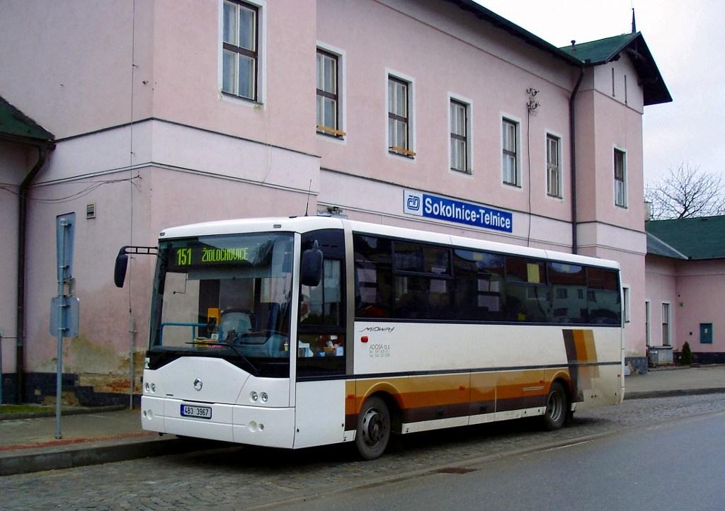 Fotogalerie » Irisbus Midway 9.7M 4B3 3967 | Sokolnice | K Nádraží | Sokolnice, žel. st.