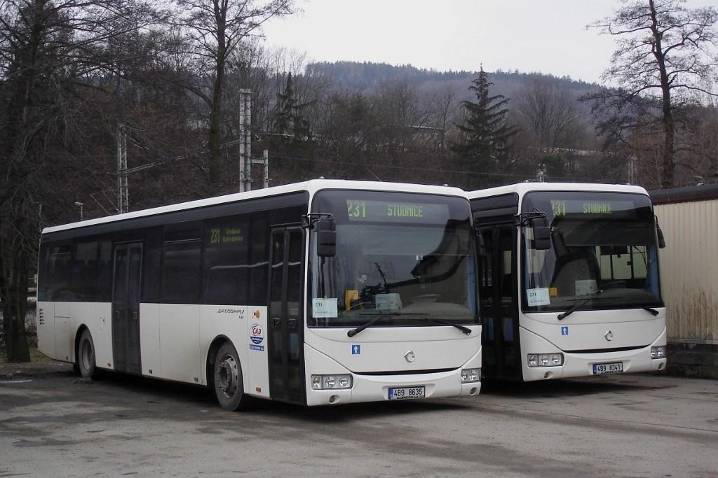 Fotogalerie » Irisbus Crossway LE 12M 4B9 8635 | Irisbus Crossway LE 12M 4B9 8341 | Blansko | Blansko, aut. st.