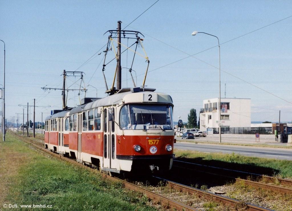 Fotogalerie » ČKD Tatra T3M 1577 | ČKD Tatra T3M 1534 | Brno | Dolní Heršpice | Vídeňská
