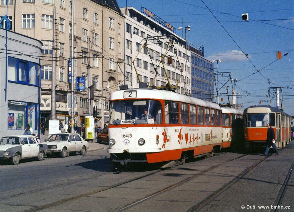 Fotogalerie » T3G 1643 | T3G 1644 | Brno | střed | Nádražní