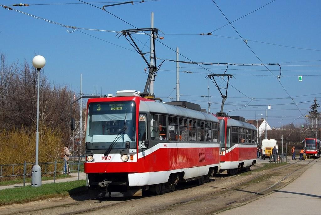 Fotogalerie » ČKD DS T3R 1667 | ČKD DS T3R 1668 | Brno | Židenice | Stará Osada