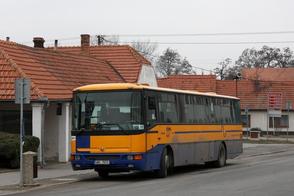 Fotogalerie » Karosa C954E.1360 4B2 7573 | Telnice | Masarykovo náměstí | Telnice