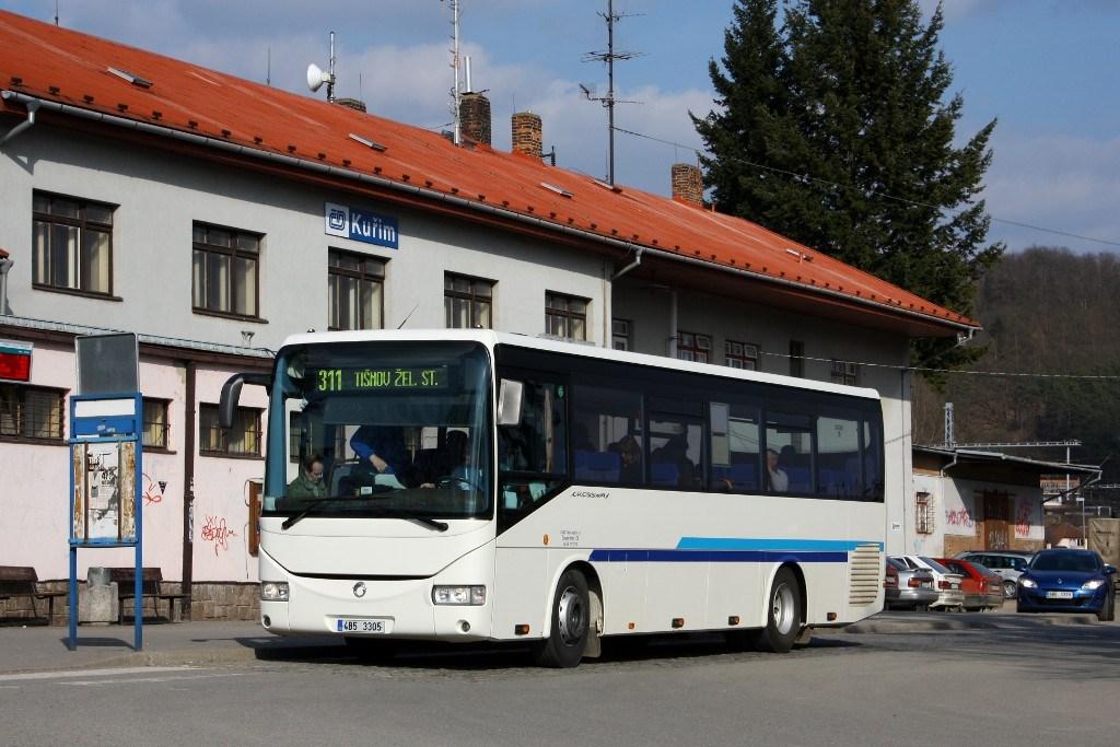 Fotogalerie » Irisbus Crossway 10.6M 4B5 3305   Kuřim   Nádražní   Kuřim, železniční stanice