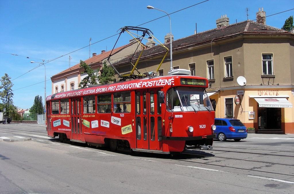 Fotogalerie » ČKD Tatra T3P 1620 | Brno | Ponava | Štefánikova | Hrnčířská
