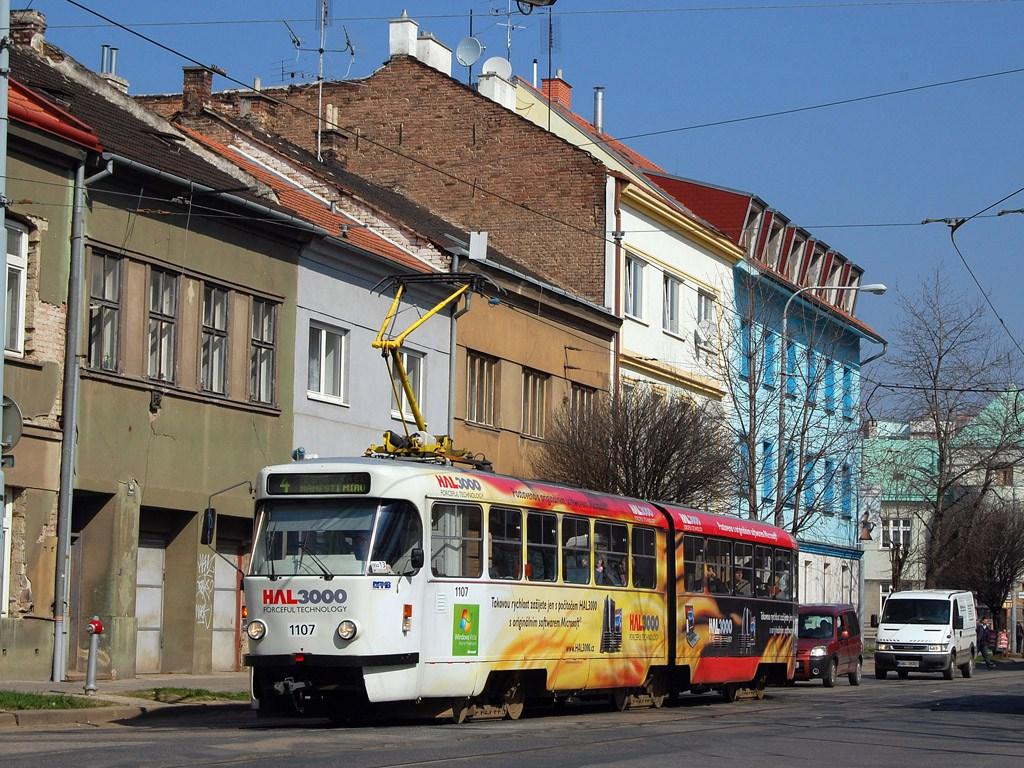 Fotogalerie » ČKD Tatra K2P 1107   Brno   Husovice   Nováčkova