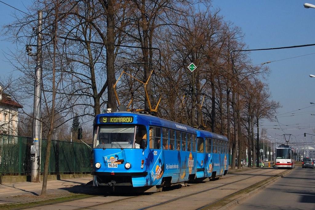 Fotogalerie » ČKD Tatra T3G 1634 | ČKD Tatra T3G 1616 | Brno | Černá Pole | Lesnická