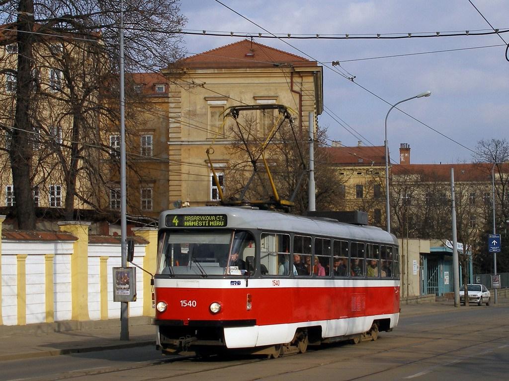 Fotogalerie » ČKD Tatra T3M 1540   Brno   Veveří   Údolní