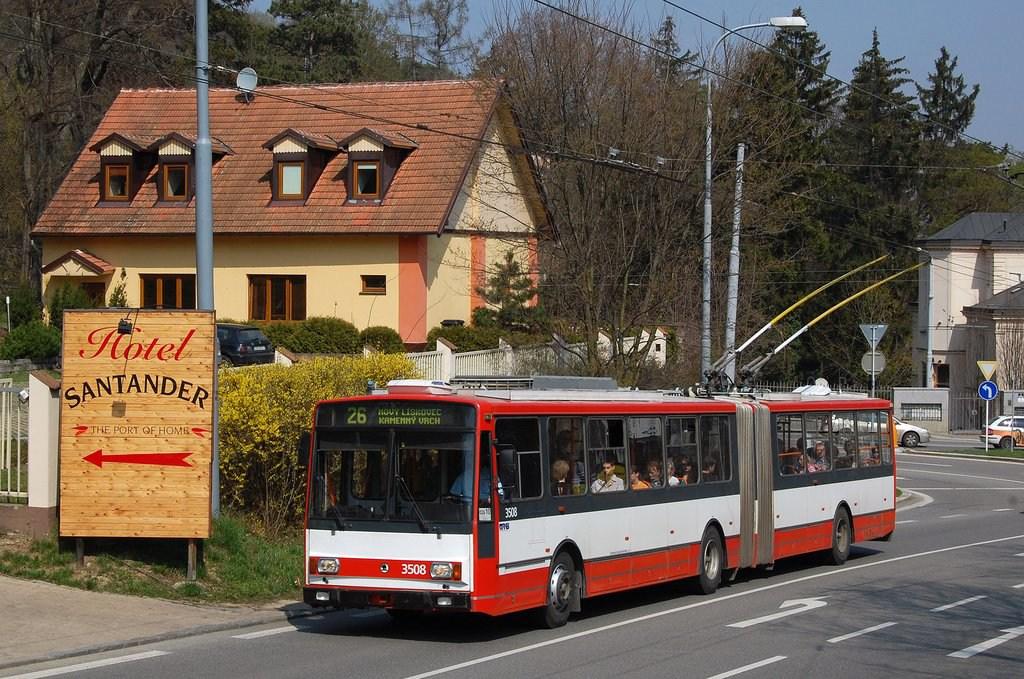Fotogalerie » Škoda 15TrM 3508 | Brno | Pisárky | Pisárecká