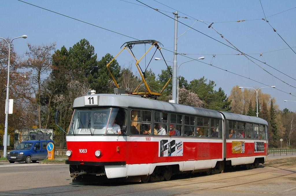 Fotogalerie » ČKD Tatra K2 1083 | Brno | Černá Pole | třída Generála Píky | Lesnická
