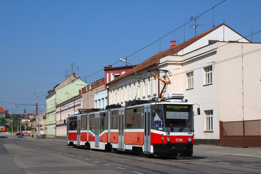 Fotogalerie » ČKD Tatra KT8D5N 1730 | Brno | Černovice | Olomoucká