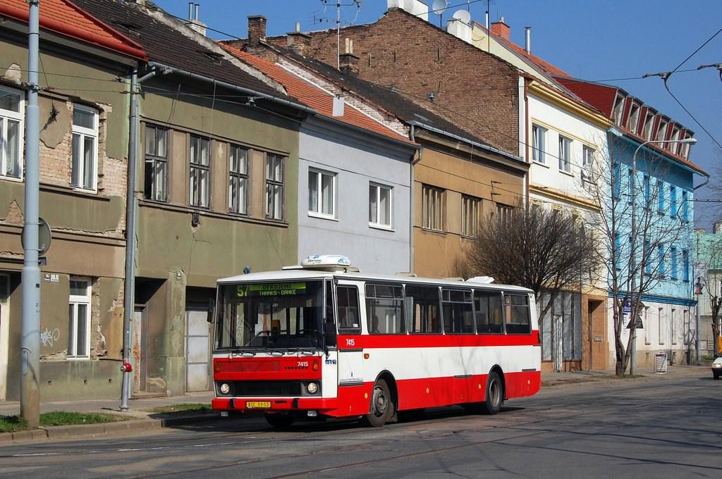 Fotogalerie » Karosa B731.1669 7415   Brno   Husovice   Nováčkova