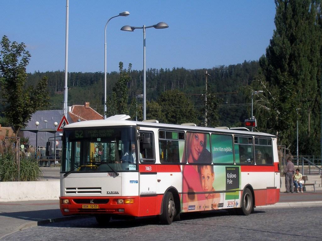 Fotogalerie » Karosa B931E.1707 7463 | Brno | Bystrc | náměstí 28. dubna | Zoologická zahrada, smyčka