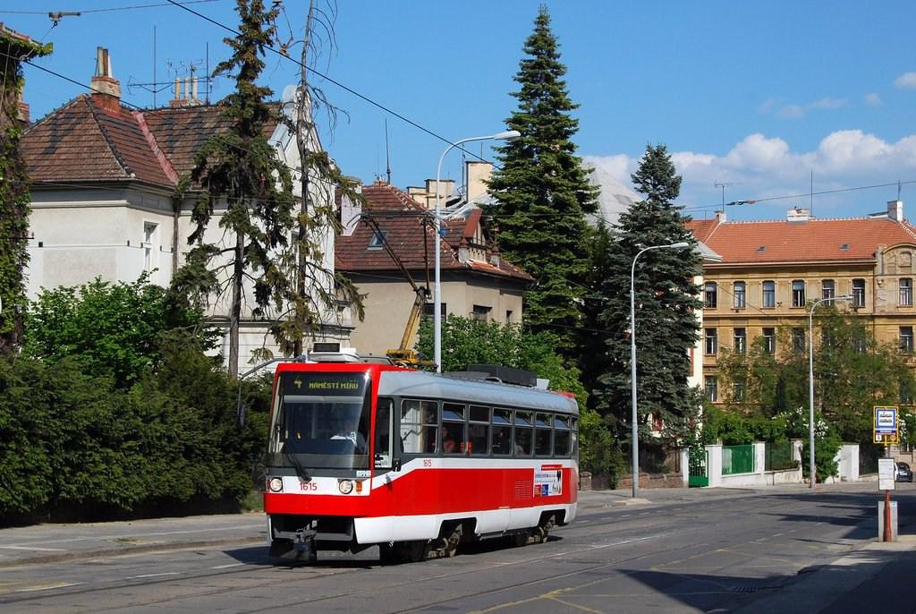 Fotogalerie » ČKD Tatra T3R 1615 | Brno | střed | Údolní | Všetičkova