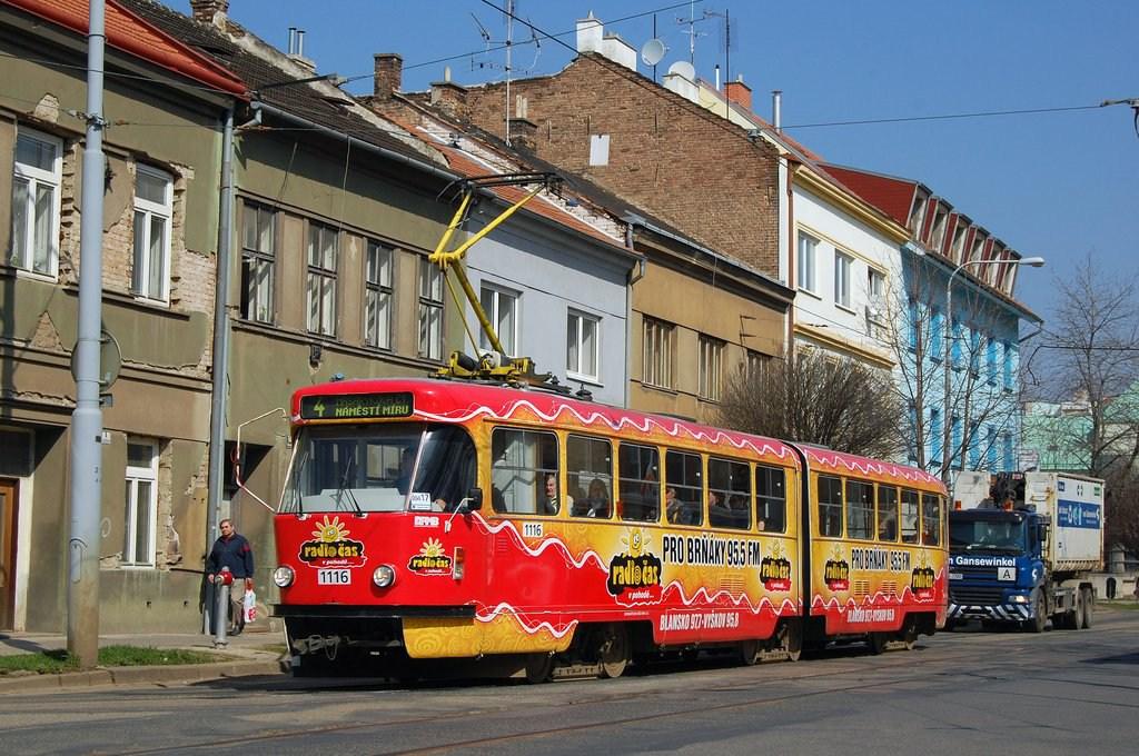 Fotogalerie » ČKD Tatra K2P 1116 | Brno | Husovice | Nováčkova