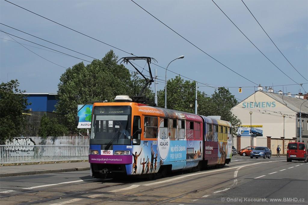 Fotogalerie » ČKD Tatra K2R03-P 1030 | Brno | Trnitá | Křenová