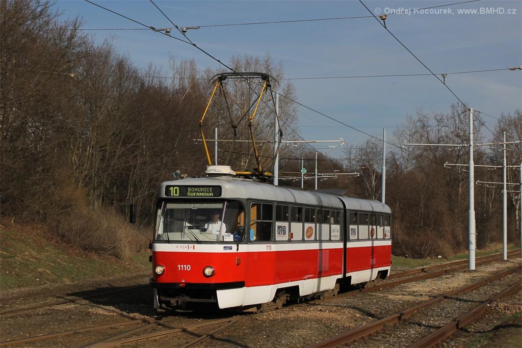 Fotogalerie » ČKD Tatra K2 1110 | Brno | Židenice | Ostravská