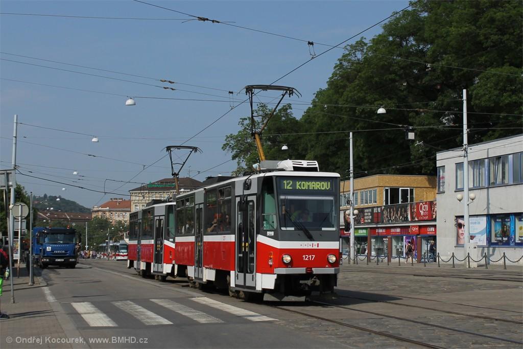 Fotogalerie » ČKD DS T6A5 1217 | ČKD DS T6A5 1218 | Brno | střed | Nádražní