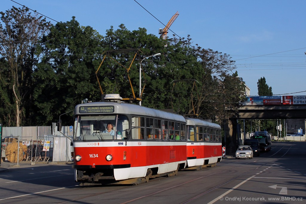 Fotogalerie » ČKD Tatra T3G 1634 | ČKD Tatra T3G 1616 | Brno | Trnitá | Dornych