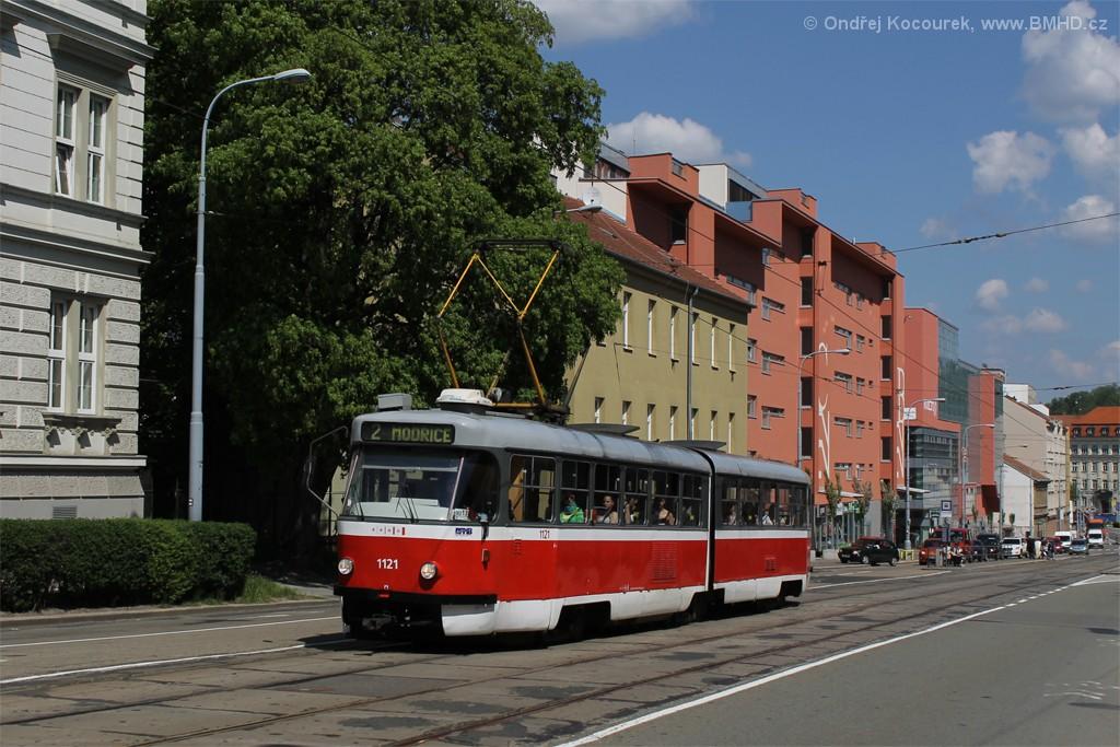Fotogalerie » ČKD Tatra K2 1121   Brno   Štýřice   Vídeňská