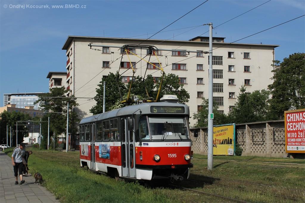 Fotogalerie » ČKD Tatra T3P 1595 | Brno | Staré Brno | Veletržní