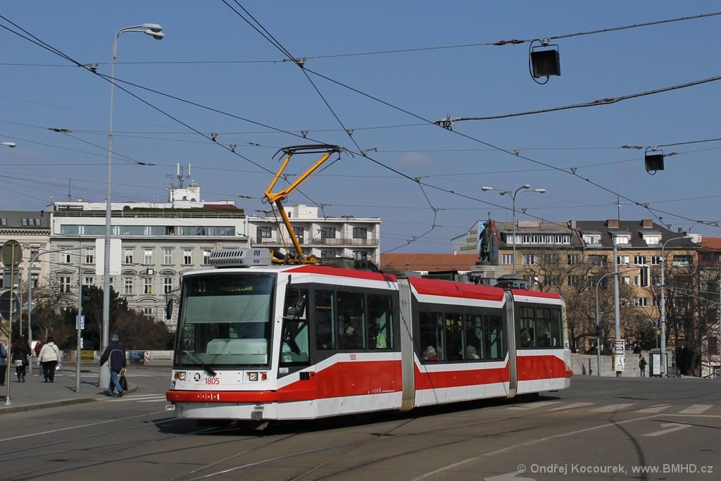 Fotogalerie » Škoda 03T5 1805   Brno   střed   Moravské náměstí