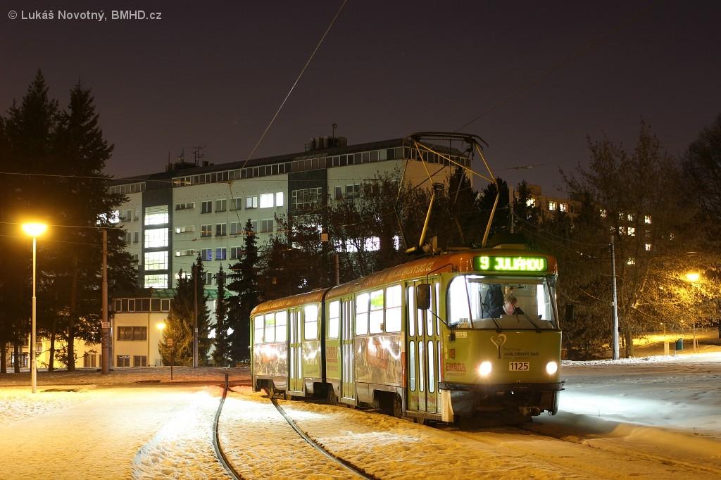 Fotogalerie » ČKD Tatra K2YU 1125 | Brno | Lesná | Čertova rokle, smyčka